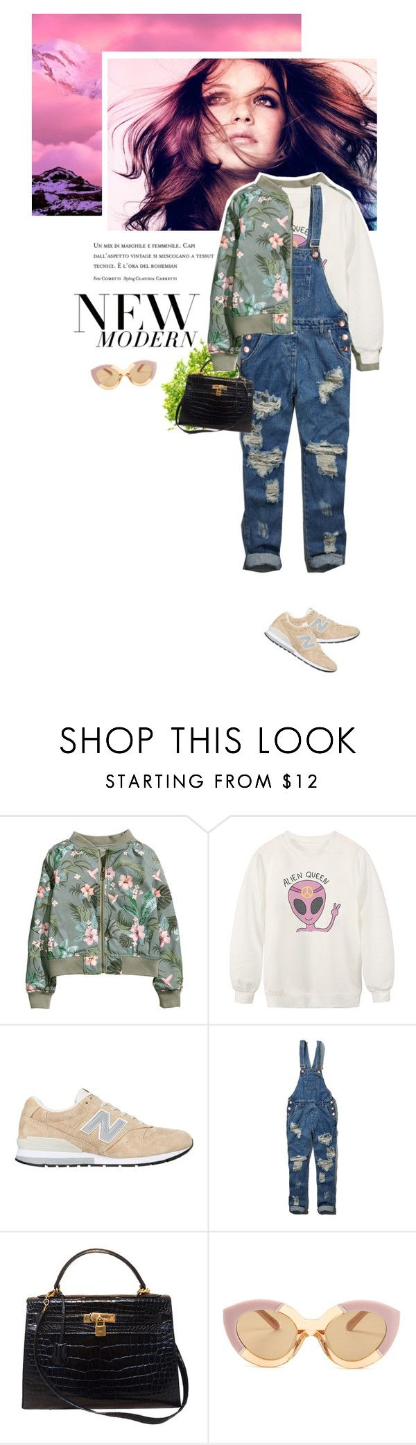 """""""[ Super Bowl ]"""" by crilovesjapan ❤ liked on Polyvore featuring H&M, Chicnova Fashion, New Balance, Abercrombie & Fitch, Hermès, Karen Walker, women's clothing, women, female and woman"""