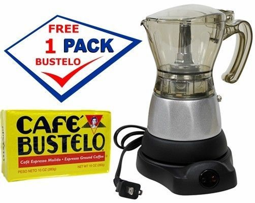 Espresso Machines 38252: Electric Cuban Coffee Maker 1 To 3 Cups. Includes A Free Cafe Bustelo -> BUY IT NOW ONLY: $34.99 on eBay!