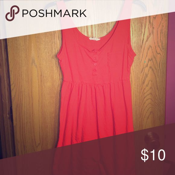 Coral Sundress Super cute flowy sundress!! #Coral slightly used, but fits like new :) Old Navy Dresses Mini