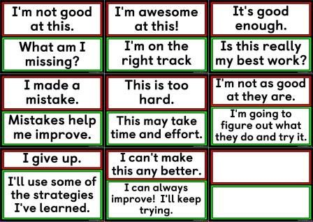 Free printable change your words, change your mindset, growth mindset set of posters to create a display.