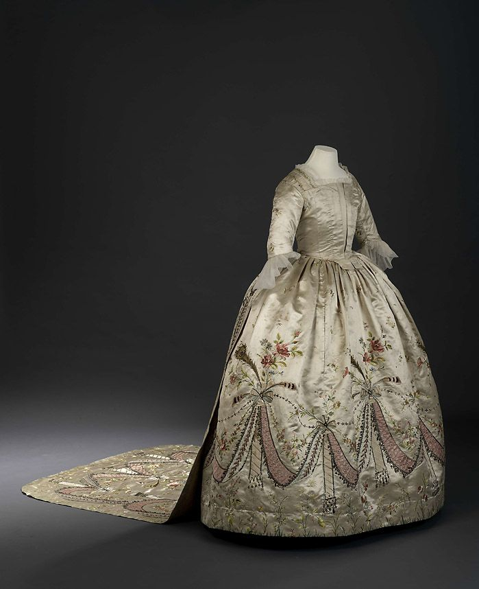 Court dress thought to belong to Marie Antoinette ca. 1780's  From the Royal Ontario Museum