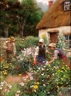 A Cottage Garden.....   Gregory Frank Harris