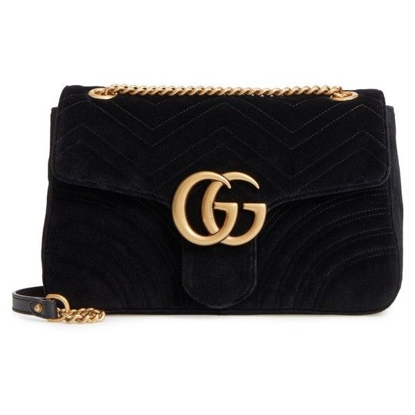 Women's Gucci Medium Gg Marmont 2.0 Matelasse Velvet Shoulder Bag ($1,980) ❤ liked on Polyvore featuring bags, handbags, shoulder bags, purses, nero, handbags shoulder bags, flap shoulder bag, man shoulder bag, top handle handbags and shoulder handbags