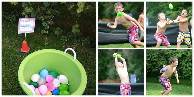 Baseball Birthday Party Ideas Water Balloons