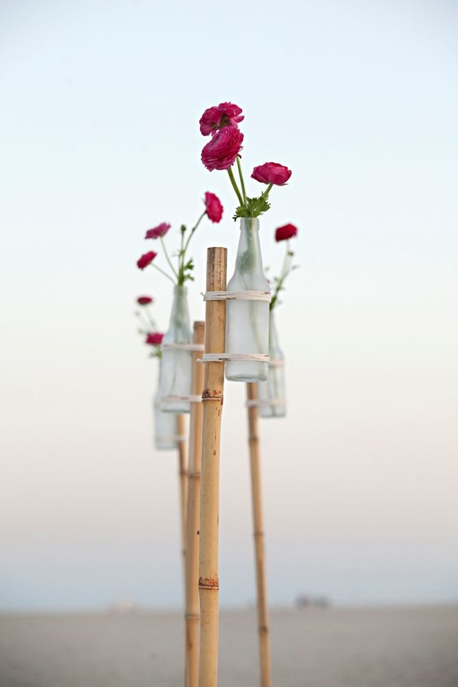 Learn how to make a glass vase flower garden stake!