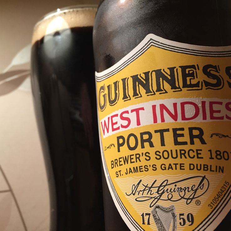 Guinness West Indies Porter. ABV 6%. Guinness, Dublin, Ireland. 8/10.