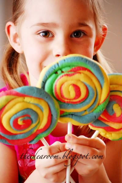 Lollipop Cookies.  We've made these before -- it's not too hard and the kids love 'em!