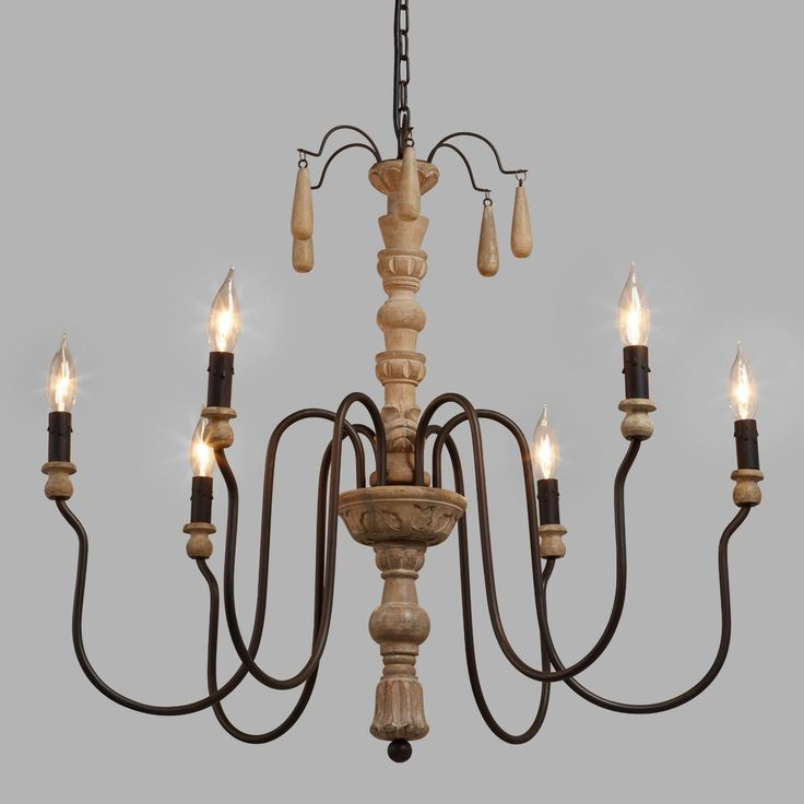 Wood Beaded Corinne Chandelier by World Market