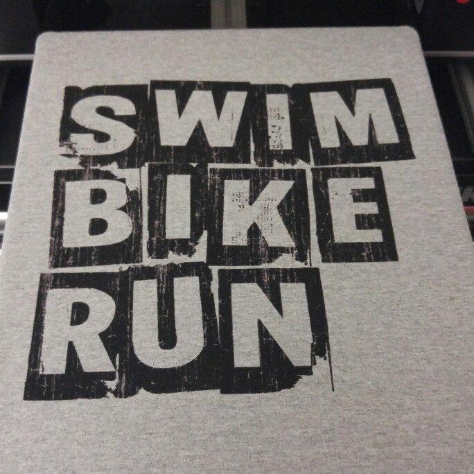 SWIM BIKE RUN Triathlon Tshirt