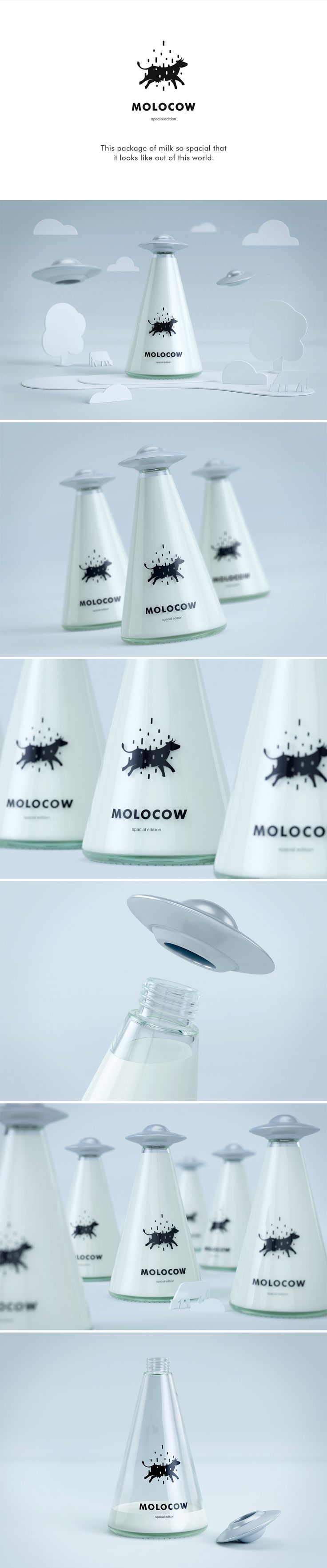 Molocow is a fun concept package for milk. We reimagined milk bottle and package to appeal for kids.