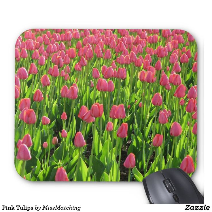 Pink Tulips Mouse Pad