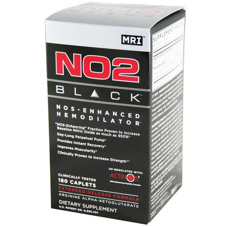 MRI NO2 Black 180 ct | Regular Price: $74.99, Sale Price: $46.99 | OvernightSupplements.com | #onSale #supplements #specials #MRI #MuscleEnhancers  | NO2 Black represents a quantum leap in nitric oxide science First NO2 Black sets the standard by giving you the purest Arginine AKG ArginPure Delivered with its extended release delivery technology pHylex9 Second NO2 Black s revolutionary NOS Enhancing peptide fraction up regulates nitric oxide synthase NOS and increases your ni