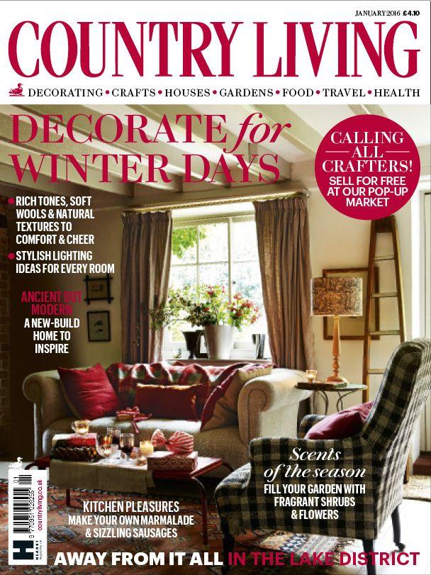 Country Living Magazine Uk January Cover Country Living Uk Country Home Magazine House And Home Magazine