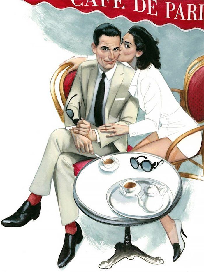 Men's Fashion Illustrations by Fernando Vicente