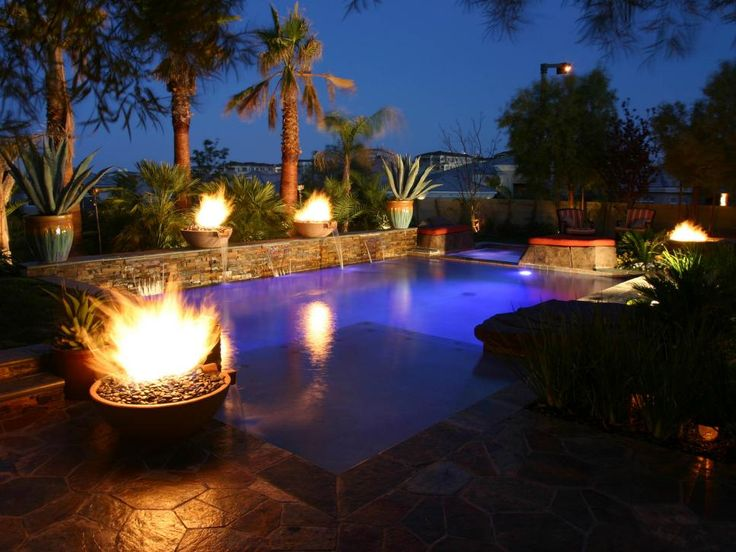 17 best images about pools on pinterest swimming pool - Pool fire bowls ...