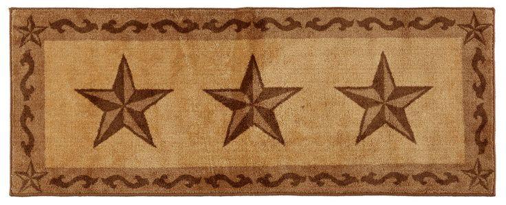 """(HXBW2010CH-2460) """"Western Star Chocolate"""" Bath/Kitchen Runner Rug - 24"""" x 60"""""""
