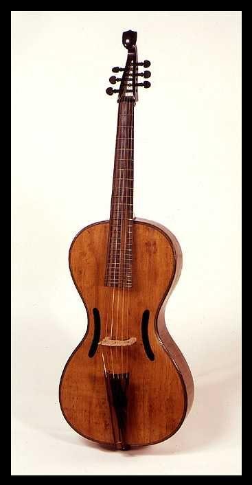 surviving 19th century Arpeggione bowed guitar, attributed to Anton Mitteis, Leitmeritz, 1st quarter of the 1800's.