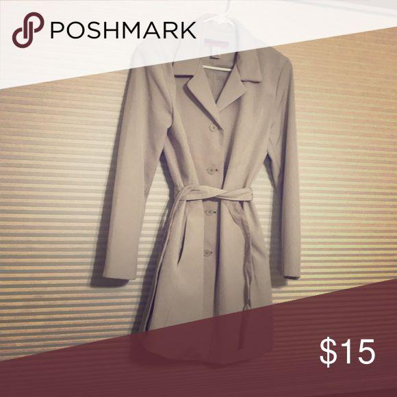 Cream colored dress coat Rayon dress coat, hip length. Merona Jackets & Coats Trench Coats