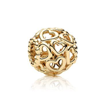 Pandora Gold Open Your Heart Charm - Item 19221167