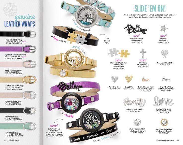 Leather wrap bracelet selection from Origami Owl ❤️  #jewelry #bracelets