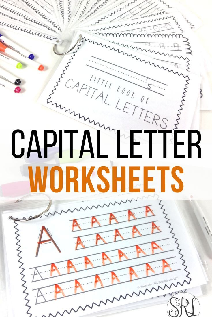 Capital Letter Handwriting Pages Uppercase Writing Practice Book