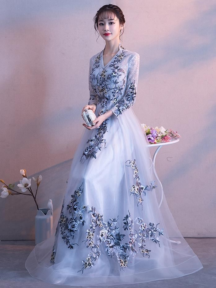 5d51f5ea4841 China Style Long sleeve prom dress,A-Line long sleeve formal dress For  custom size, please leave the following measurements can be found in the  shopping ...