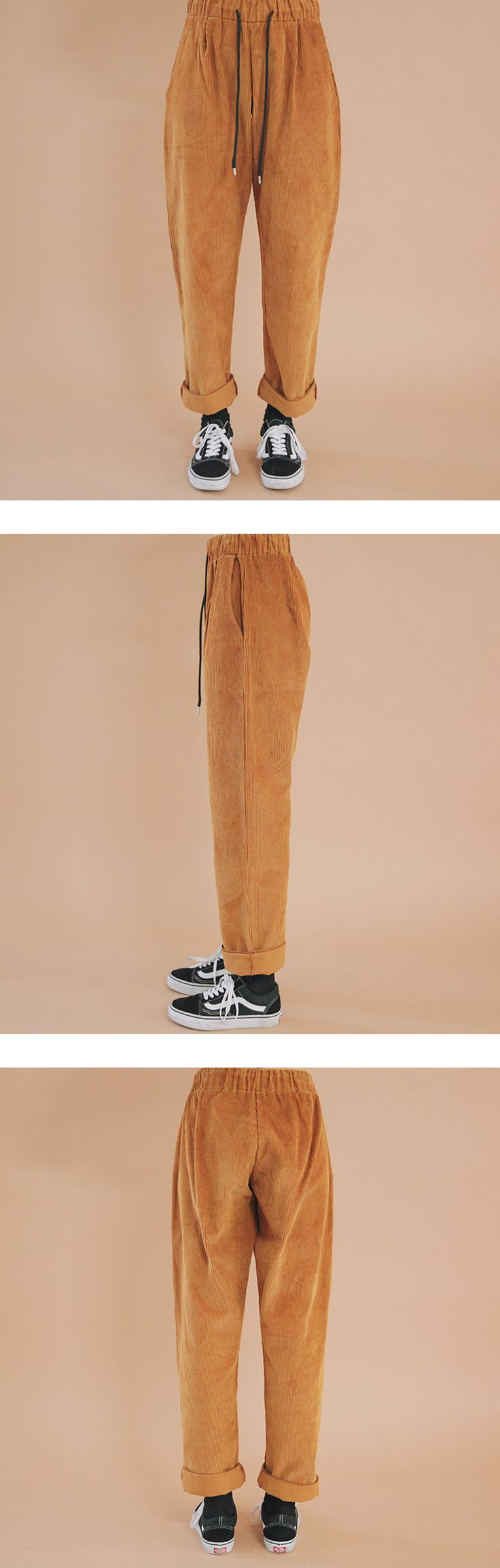 Corrugated Drawstring Pants | STYLENANDA
