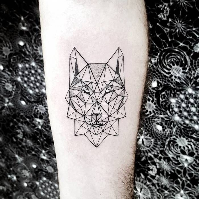 Geometric Wolf Sleeve: 40 Amazing Wolf Tattoo Designs And Ideas
