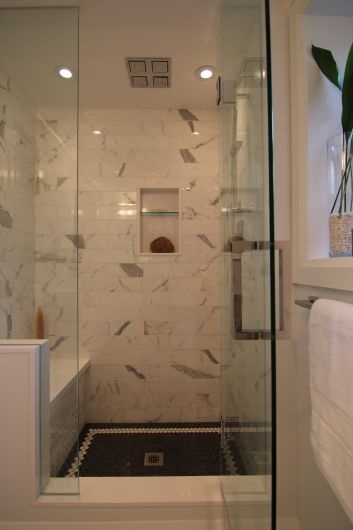 Marble Shower, Toronto ~ BedfordBrooks Design Inc.
