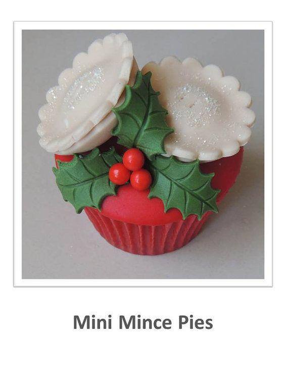 Mini Christmas Mince Pies Cupcake by ShereensCakesandBake on Etsy