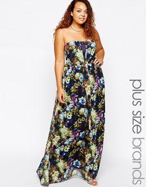 Little Mistress Dark Floral Print Maxi Dress