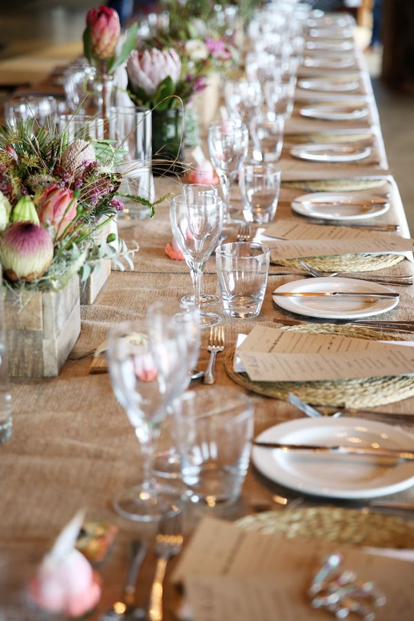 Protea and natural fynbos flowers for African Inspired wedding