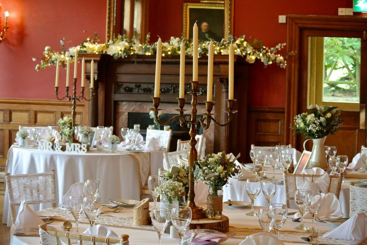 Holne Park house Ashburton, full venue dressing provided by Wild Floral Designs