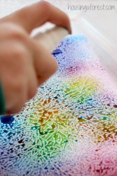 Arte Attività per i bambini ~ arte Semplice Processo utilizzando Una Carta oleata divertente resistere tecnica