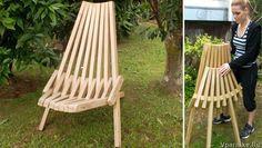 как сделать складной садовый стул Кентукки