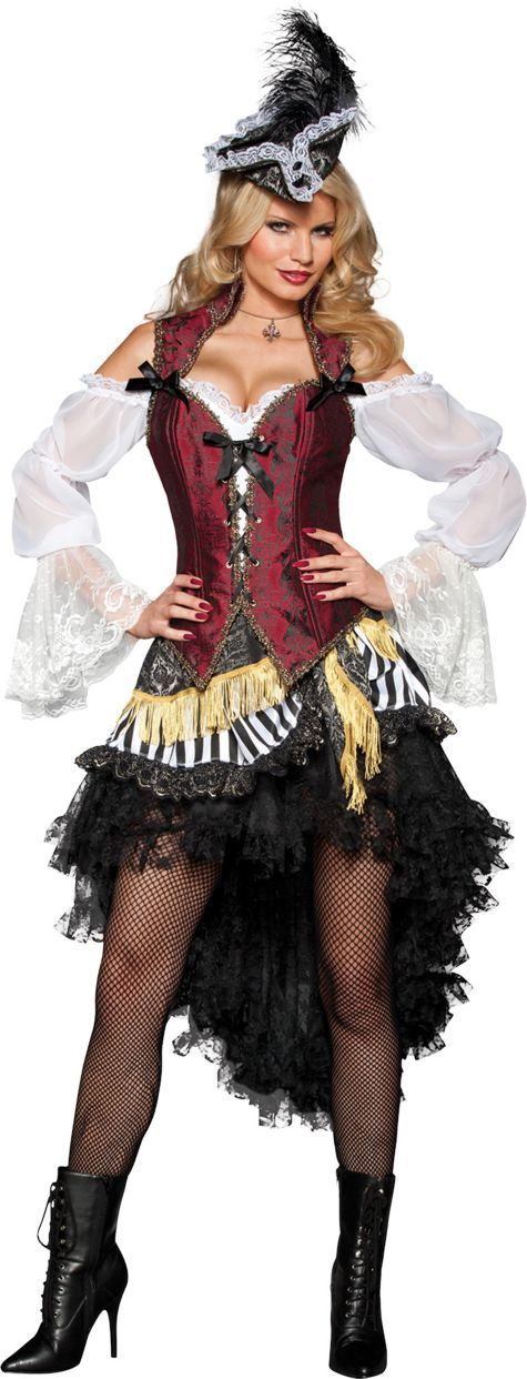 Adult High Seas Treasure Pirate Costume - Party City