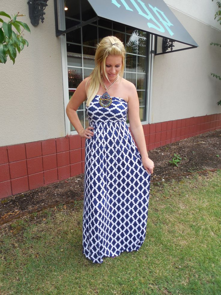 Navy Maxi Dress....always wanted to try one. Just scared because of my height :/