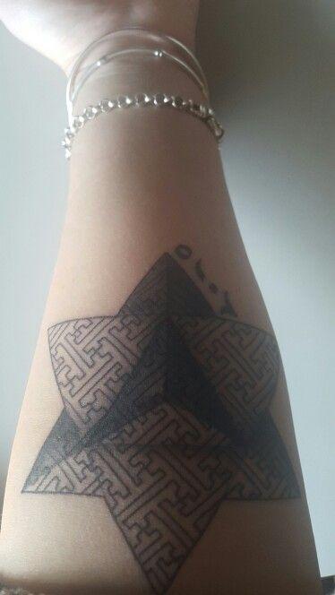 Pyramid tattoo -2015 arabic numerals