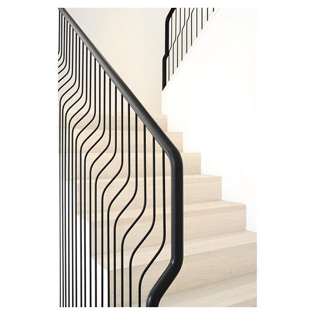 Metal Mart stair banister, handrail, Westside house by Falken Reynolds