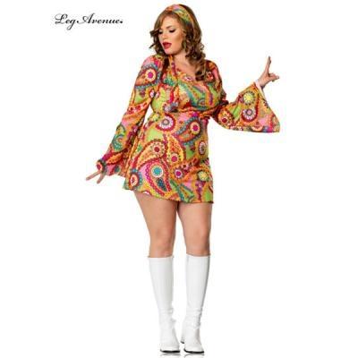 Sexy Plus Adult Hippie Chick Costume