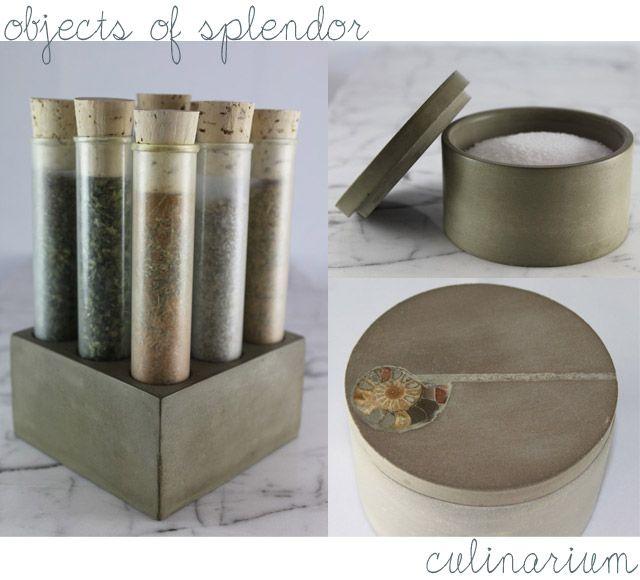 Culinarium, Epicurean Accessories, Modern Spice Rack, Concrete Accessories  Via Hello Spendor | PRESS | Pinterest