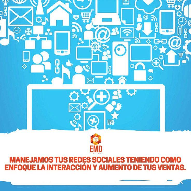 Las redes sociales son uno de tus canales digitales más importantes, no las dejes en manos de cualquiera. #EMD #Servicios #SocialMedia