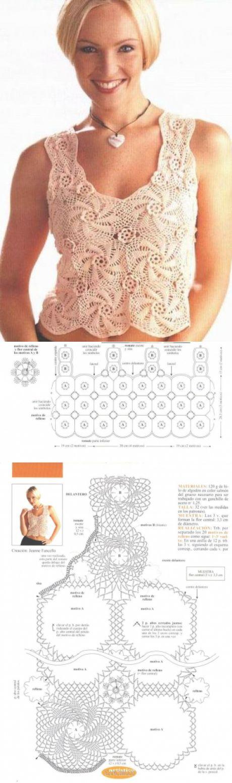 0417 - майки, топи - В'язання для жінок - Каталог статей - Md.Crochet