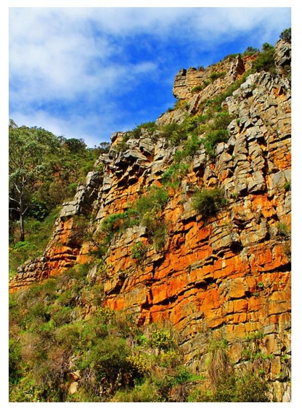 Morialta Falls cliff faces, Adelaide Hills, Adelaide, South Australia
