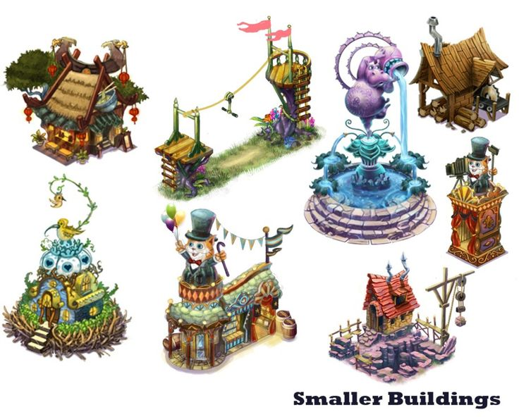 Created concept art for buildings, decorations, characters and promotional art to be used for Facebook social game: Ravenwood Fair, and Ravenskye City.This was my first time working in social gaming, and it was an incredibly fun project. I worked in a v…