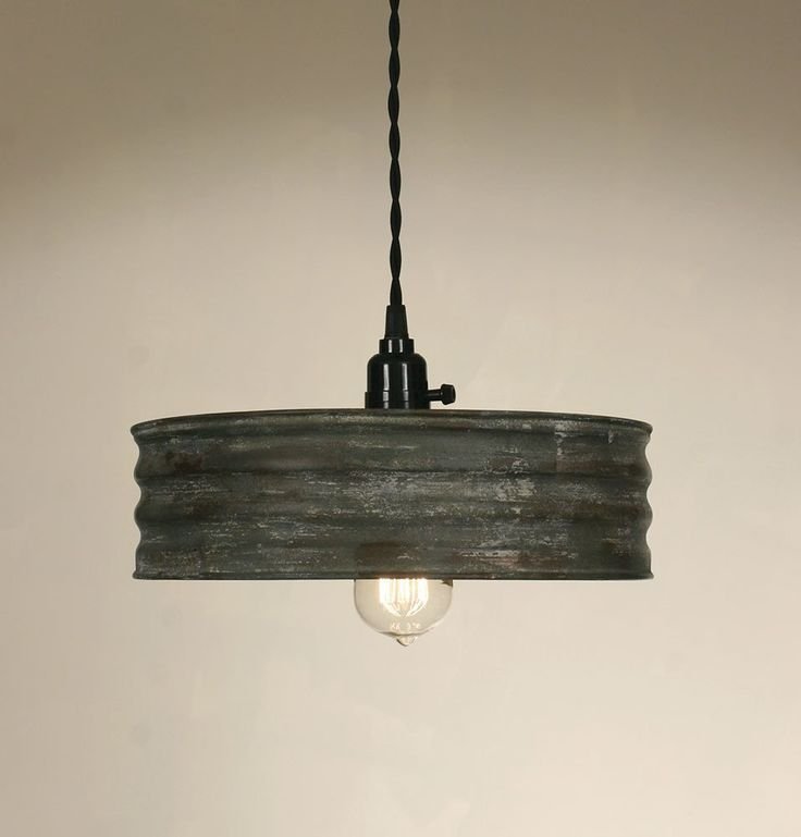 Vintage Inspired Rustic Primitive Industrial Sifter Pendant Hanging Light…