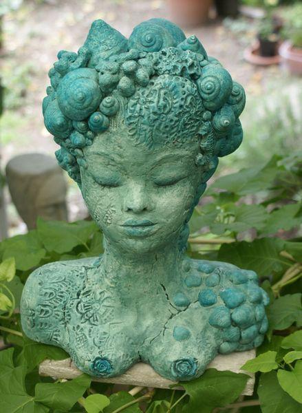 """Meerjungfrau    Hochwertige Skulptur aus der Serie """"Undinen"""". Sie wurde in einer Technik hergestellt, die ich selbst entwickelt habe.Jede Skulptur ..."""