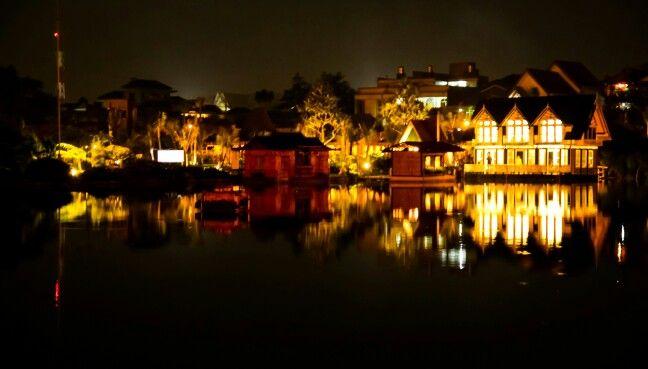 Floating market, bandung Indonesia.