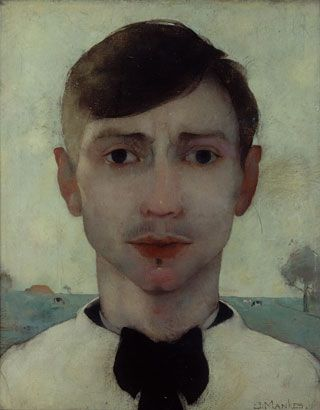 Jan Mankes (Dutch: 1889-1920) - Self Portrait 1913