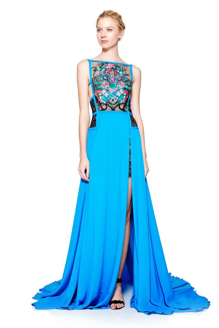 AXL17185L  Sukienka wieczorowa #runway #dress #fashion #tadashishoji